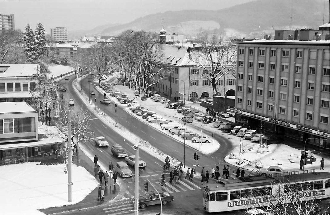 Rotteckring vom Theaterdach aus im Jahre 1965 Foto: Willy Prager/Landesarchiv BW