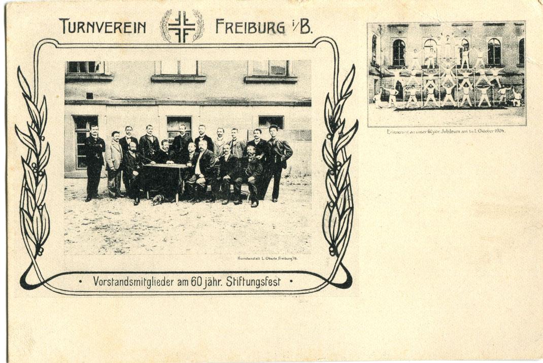 60 Jahre Turnverein Freiburg (1904) ... Bild: Archiv Oehler