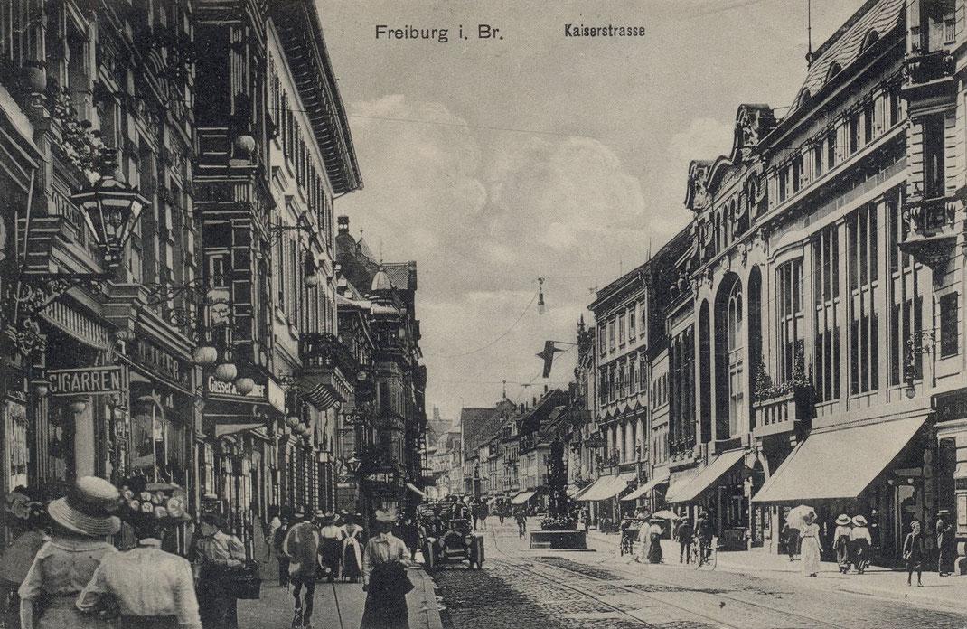 Kaiserstrasse Freiburg im Breisgau im Jahre 1911