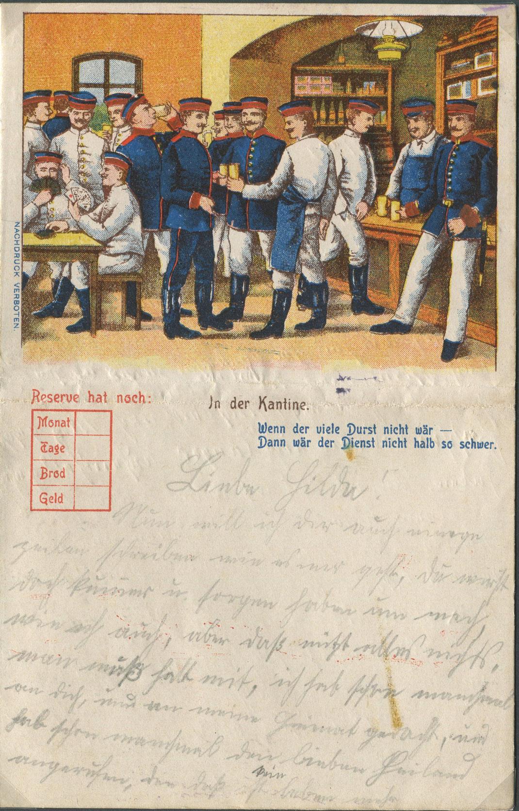 Briefkarte aus dem Ersten Weltkrieg (Bild: Archiv Oehler)