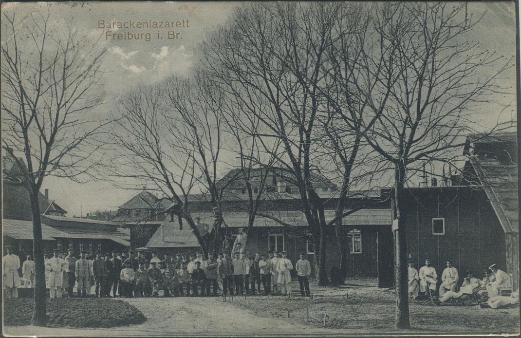 Barackenlazarett in Freiburg (Bild: Archiv Oehler)