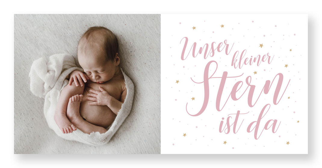 Geburtskarte mit