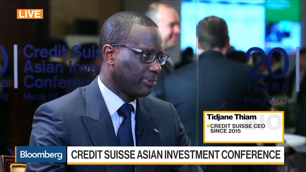 World / Bloomberg Journalism / Tidjane Thiam President Credit Suisse 2015-2020 / Constructive & Professional Banker Just Great  Lingual Thesaurus / Excellent Mondial Figure For Crucial Black Business To Business