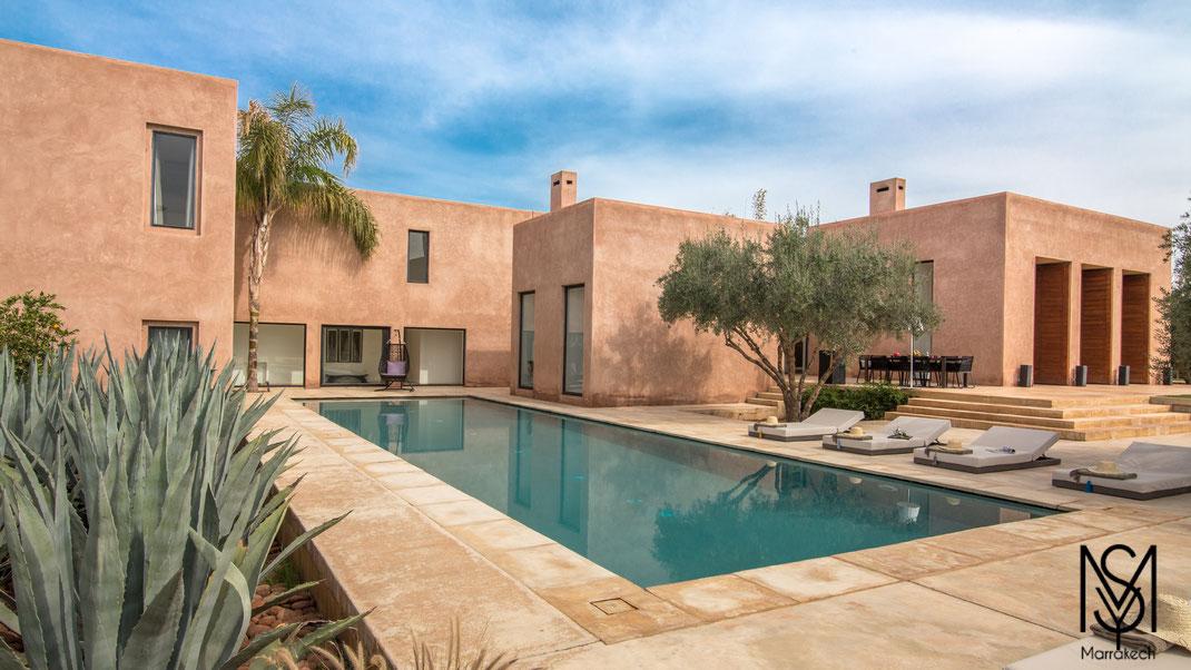 Mysecretmarrakech Villa contemporaine Palmeraie Marrakech avec tennis privé