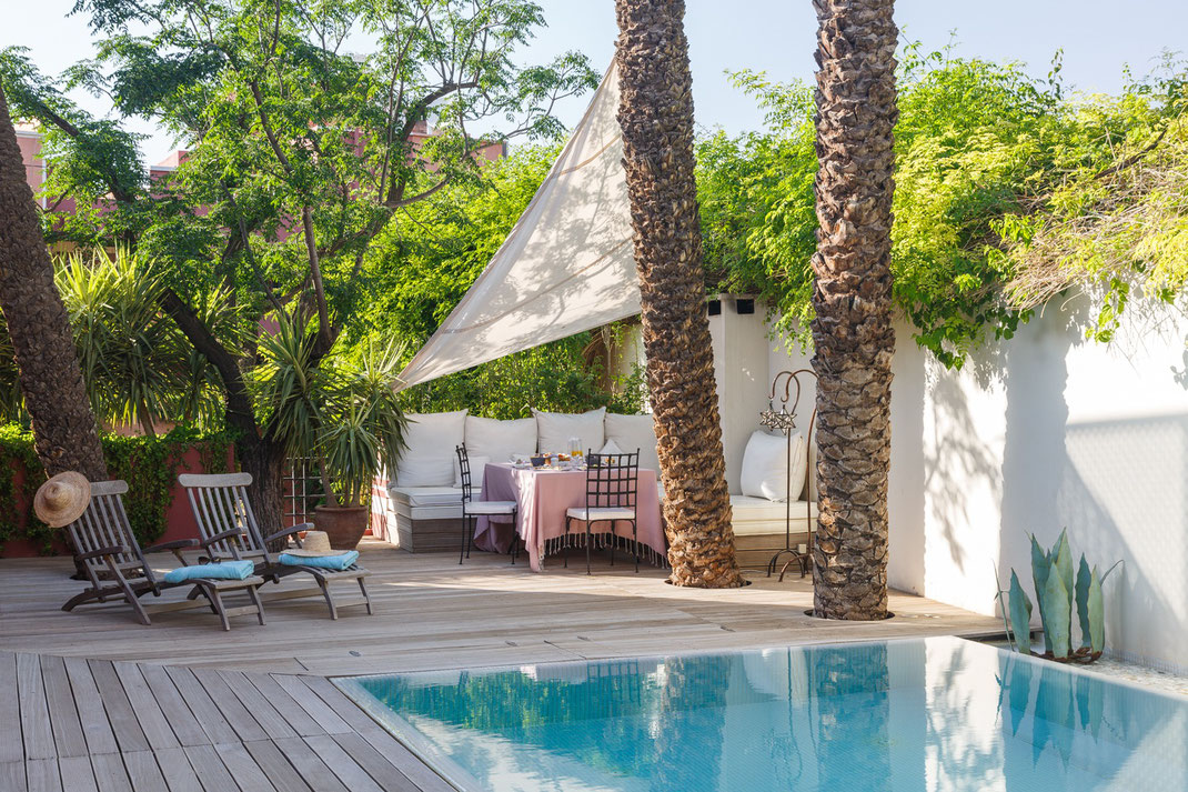 Location Villa 4 chambres avec piscine chauffée Marrakech