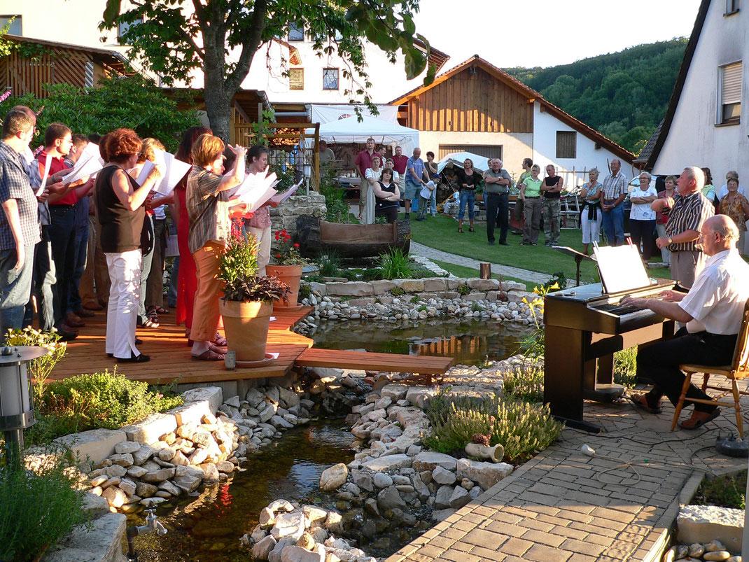 2006 Sommerfest im Garten in Förrenbach