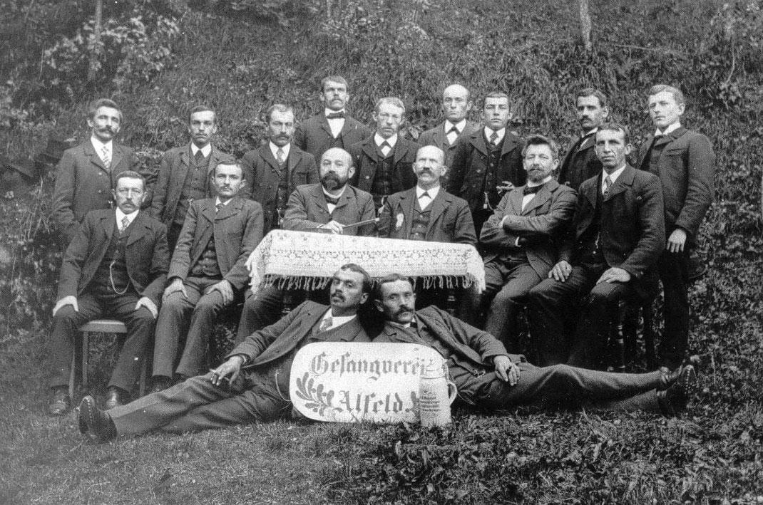 Gesangverein Alfeld im Jahre 1894