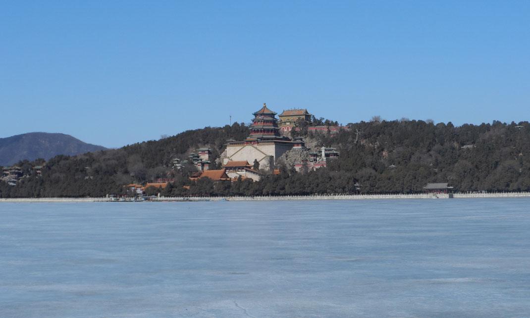 Le palais d'été en hivers.
