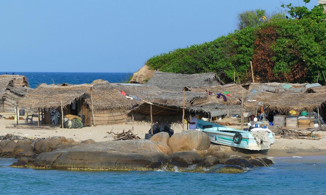 Village de pêcheurs le long de la B424