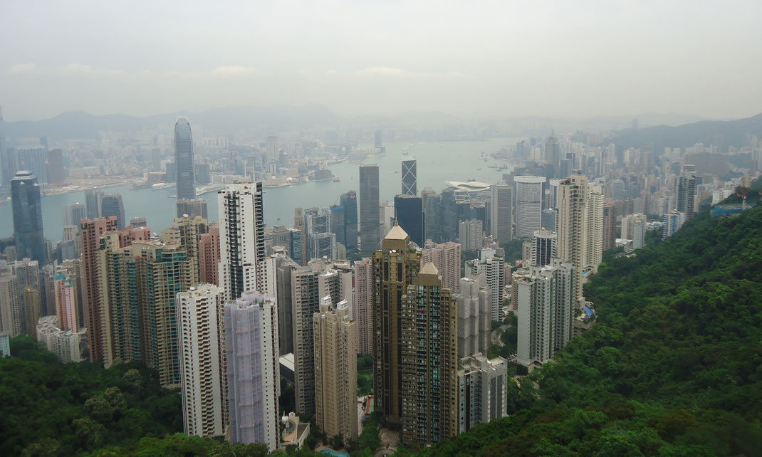 Vue d'Hong-Kong depuis le Victoria Peak.