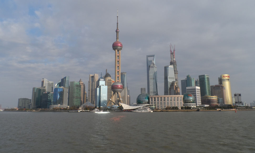 Pudong et l'Oriental Pearl Tower.
