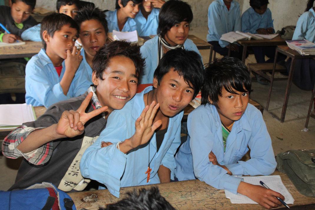 École, Nepal.