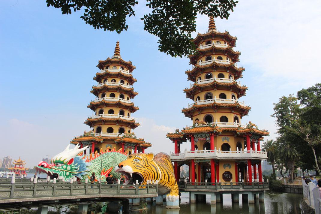 Dragon and Tiger Pagodas, KaoHsiung, Taiwan.