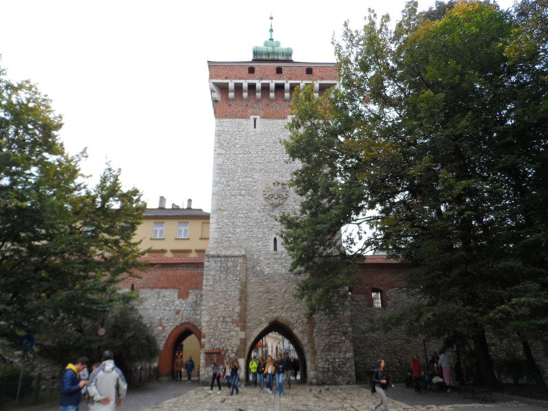 Porte de Saint-Florian (Brama Florianska), Cracovie.