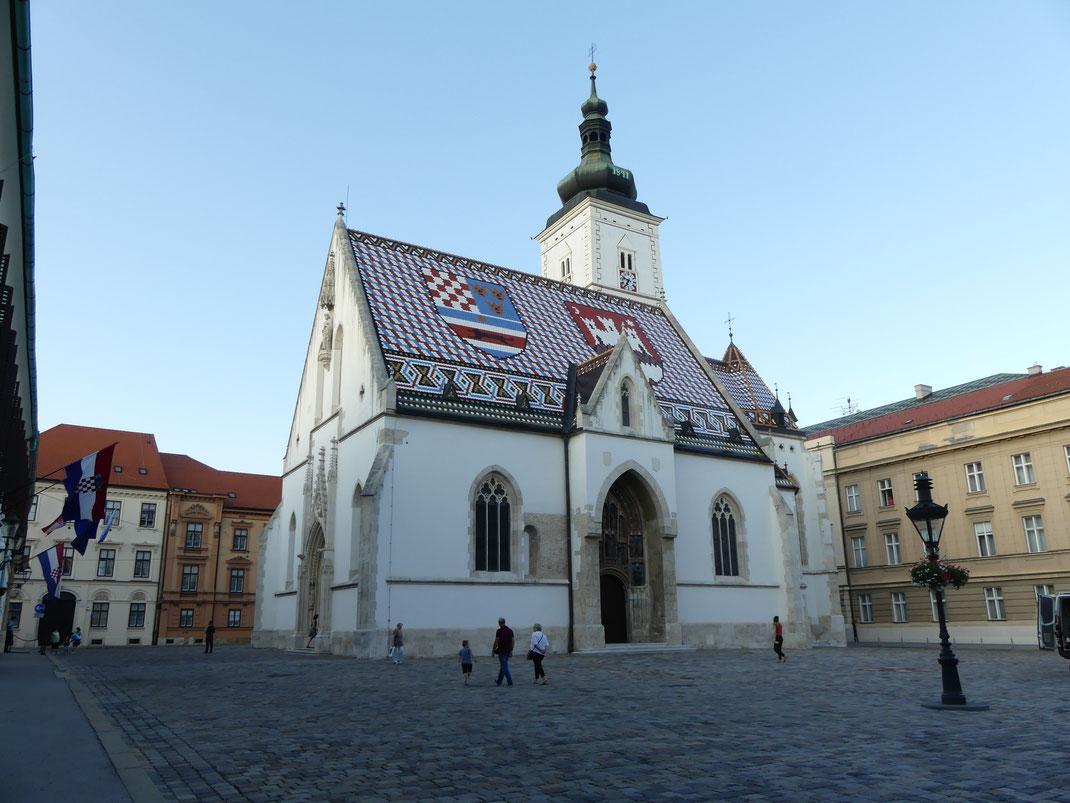 Église Saint-Marc, Zagreb, Croatie.