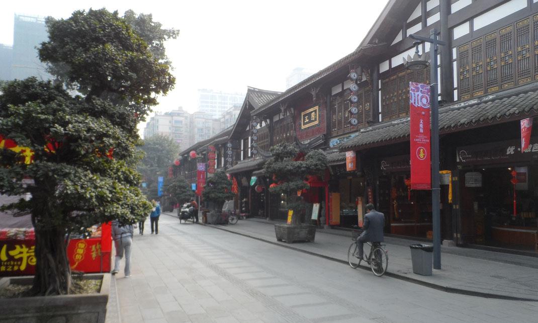 Maisons traditionnelles à Chengdu.