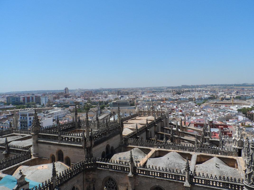 Vu sur Séville depuis la Giralda, Cathédrale de Séville.