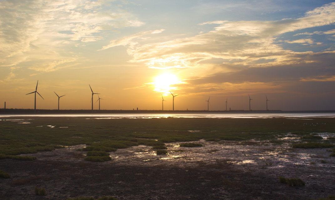 Gaomei wetlands, Taichung.