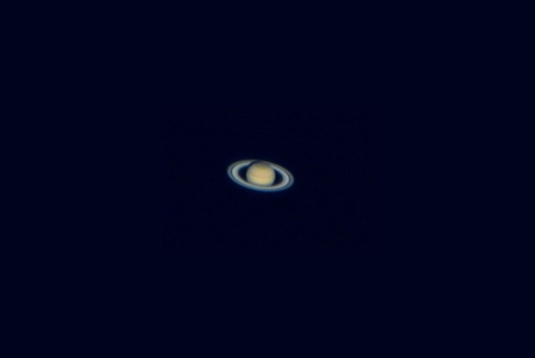 Saturn with clouds and  Cassini Division of the rings, Celestron 8, TUCam Pro, Webcam, 1280x855px