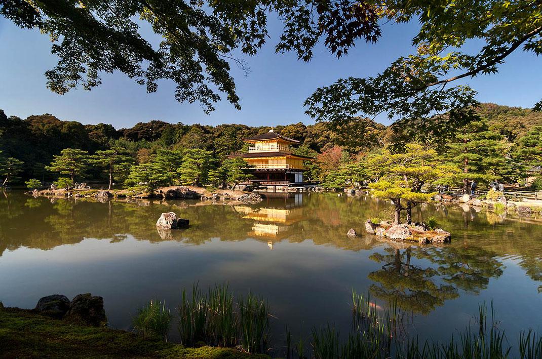 Kinkaku-Ji, Golden Temple with reflecting lake, Unesco World Heritage, Imperial Kyoto, Japan, 1280x848px