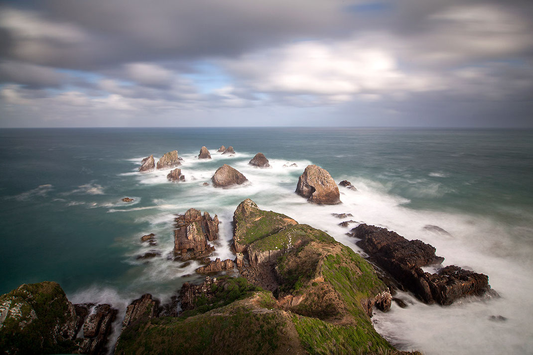 Nugget Point Rocks, Otago Region, Long Exposure, Southern Island, New Zealand, 1280x853px