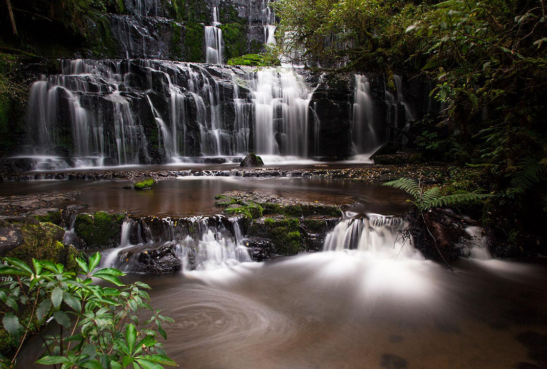 Purakaunui Falls in the Catlins, Waterfall, Long Exposure, Southern Island, New Zealand, 1280x864px