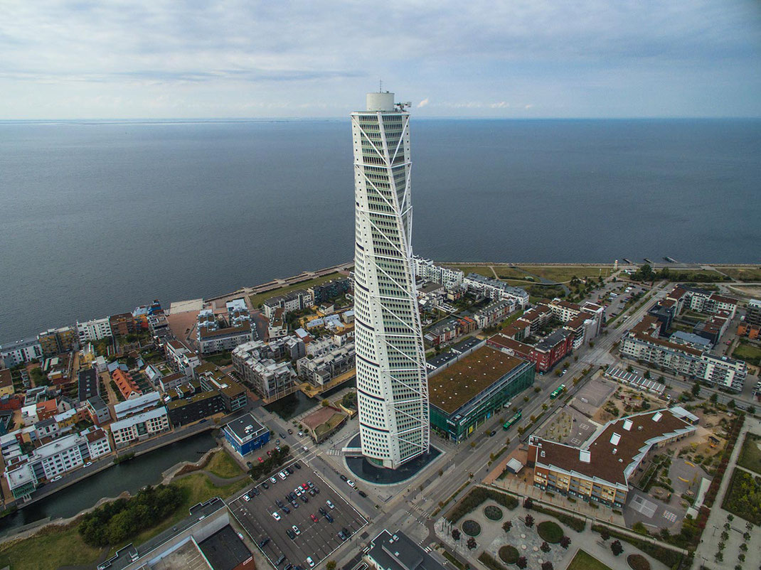 Turning Torso Malmo, Skyscraper Modern Architecture, Dji Phantom, Drone, Sveden, 1280x959px