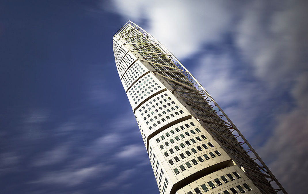 Turning Torso, Malmo, Sweden, Modern Architecture, Long exposure