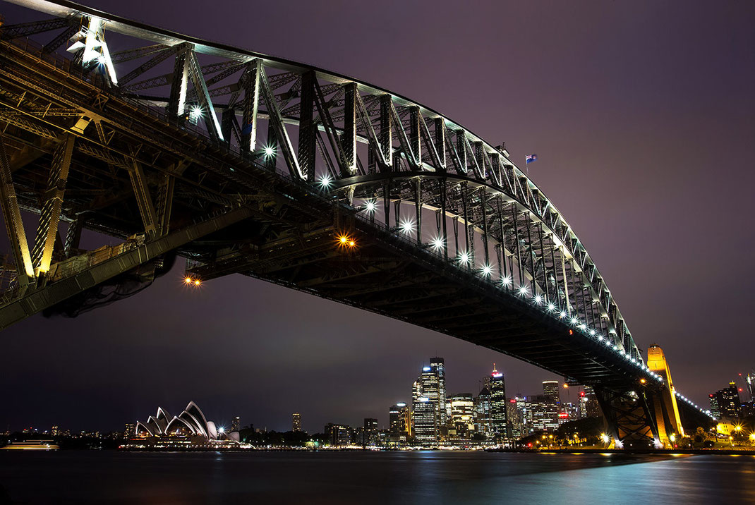 Coat Hanger, Harbour Bridge, Opera House in Sydney, Long Exposure Photography, New South Wales, Australia, 1280x857px