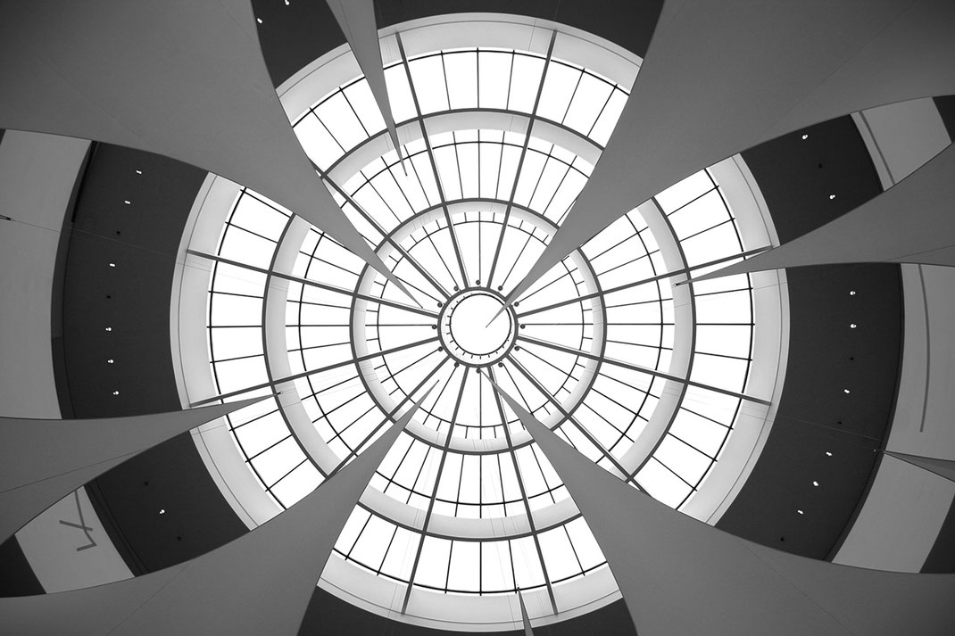 Pinakothek der Moderne, Rotunde Ceiling, Black and White, Munich, Germany, 1280x853px