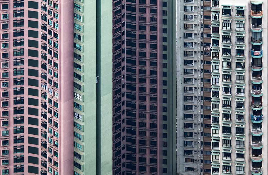 Hongkong apartment blocks with creative idea to generate more space, China, Asia, 1280x837px