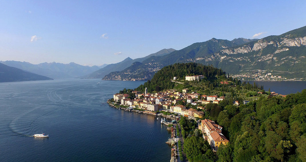 Bellagio historical city at Lago di Como in the alps, dji Phantom, drone, Italy, 1280x697px