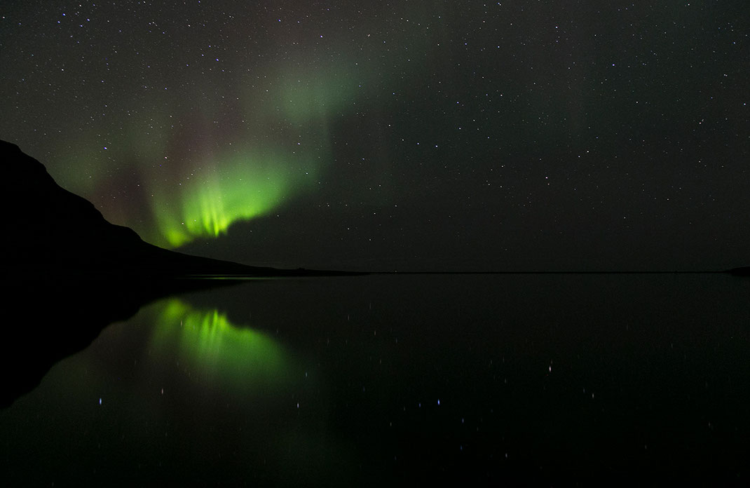 Aurora Borealis, Northern Lights developing a new wave at Snaefellsnes, Grundarfjördur, 1280x833px