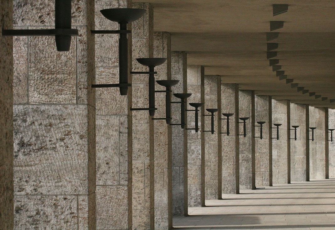 Columns with Candle Holders at the Olympic Stadium, Berlin, Germany, 1280x878px
