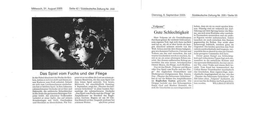 """""""Das Spiel vom Fuchs und der Fliege"""", SZ, 31.08. und 06.09.2005"""