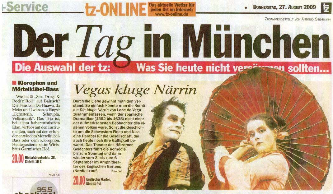 """""""Die kluge Närrin"""", TZ, 27.08.2009"""