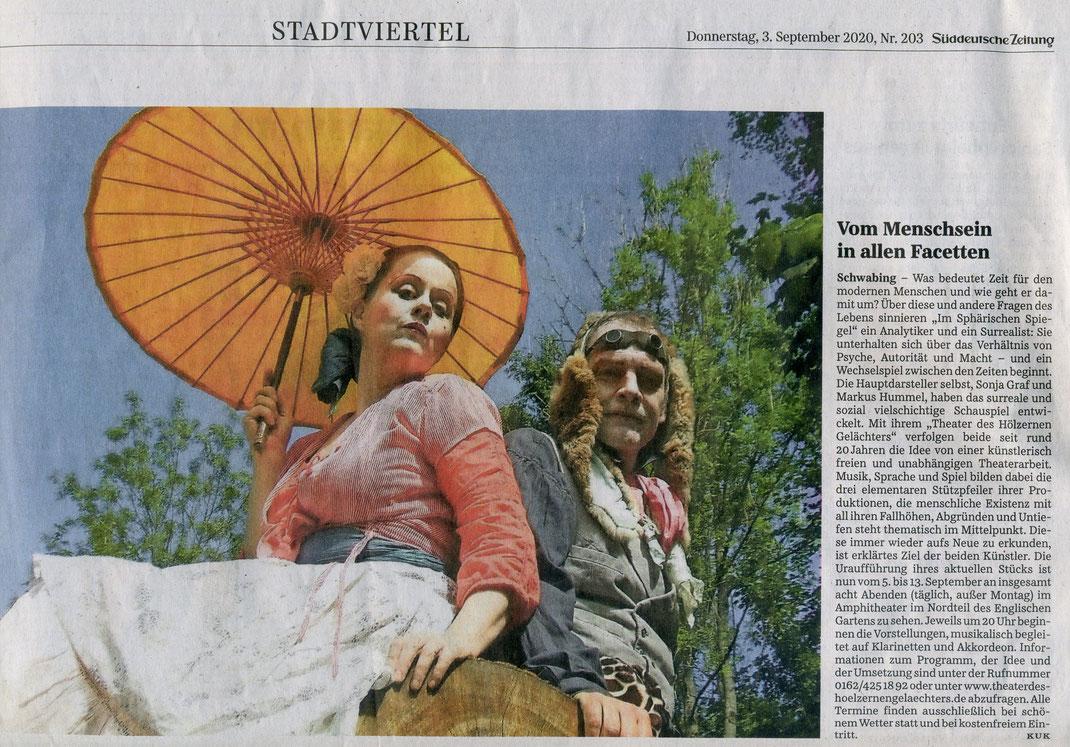"""""""Im sphärischen Spiegel"""", SZ, 03.09.2020"""