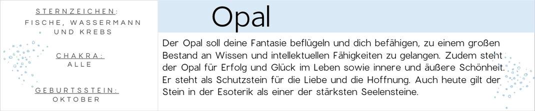 Banner Opal Edelstein Beschreibung