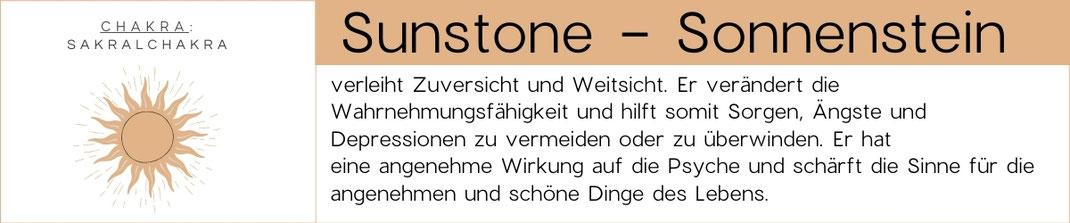 Edelsteinbeschreibung Sunstone / Sonnenstein Grafik