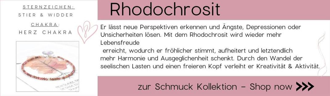 Grafik zu Edelsteinwissen Rhodochrosit