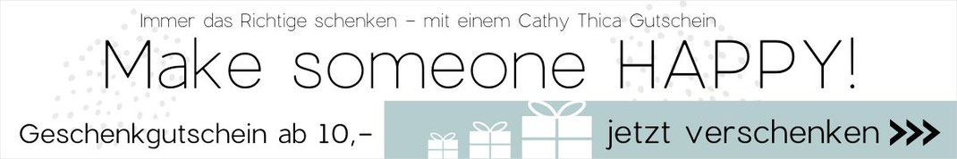 Link zu Geschenkgutschein im Cathy Thica Online Shop