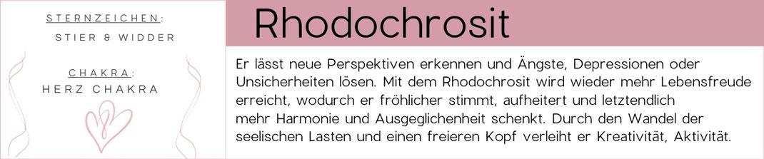 Edelstein Beschreibung Rhodochrosit Grafik