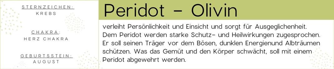 Edelstein Beschreibung Peridot Edelstein