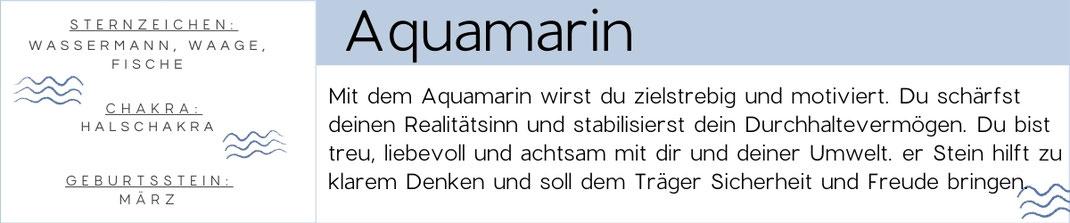 Diese Grafik zeigt die eigenschaften des Aquamarin Edelstein.