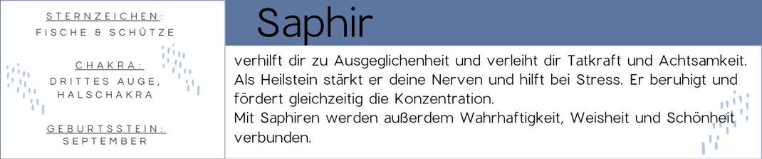 Edelstein Beschreibung Saphir