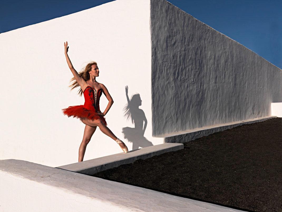 Dina, Ballerina der Hamburger Staatsoper auf Lanzarote