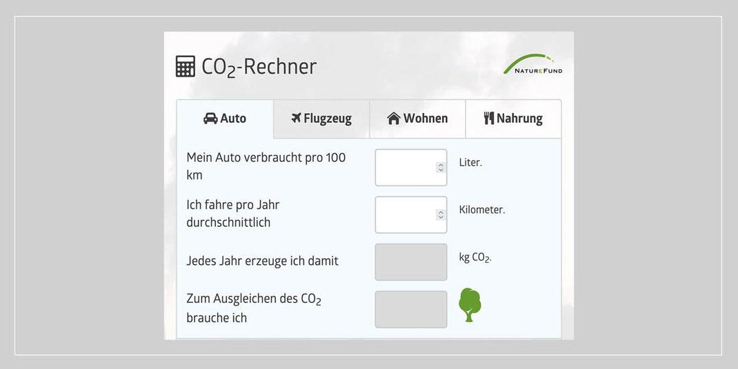 Scuderia GT: Baumpflanzaktion - CO2 Rechner Naturefund