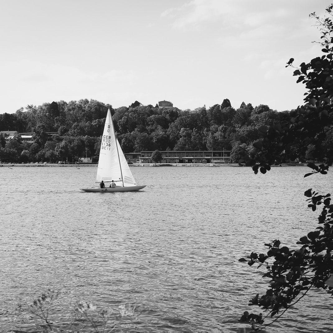 Baldeneysee Essen, Villa Hügel, Segelboot
