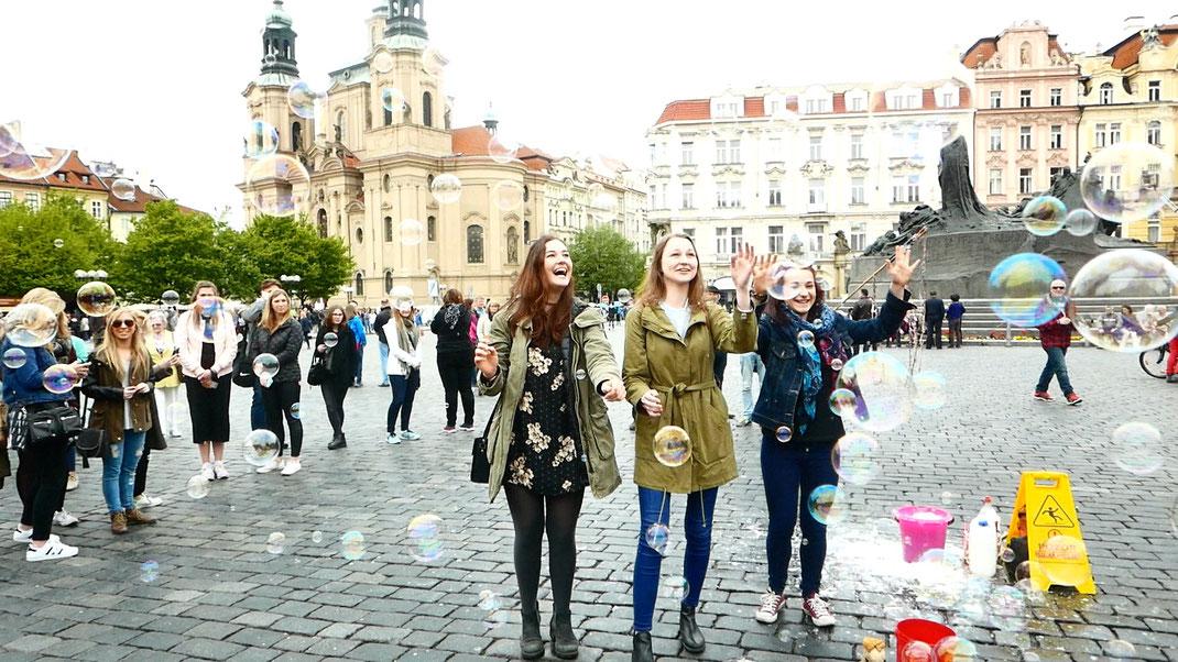 Prag Altstadt Straßenkünstler