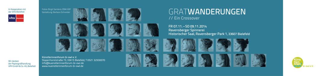Kuenstlerinnen Forum Bielefeld OWL Einladung zur Ausstellung Gratwanderung November 2014
